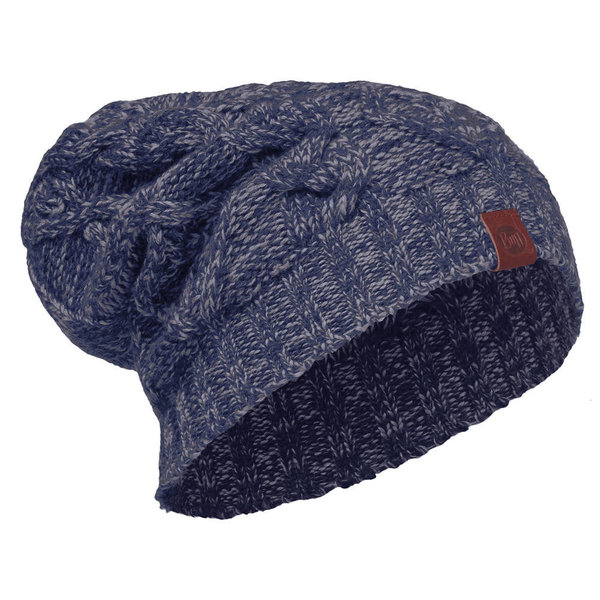 B KNITTED HAT NUBA medieval blue